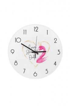 Часы настенные «Розовый фламинго»