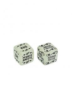 Игра настольная развлекательная для взрослых «Неоновые кубики. Романтические сюрпризы»