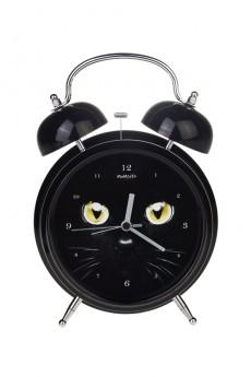 Часы настольные «Черный кот»