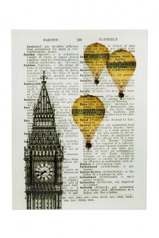 Репродукция «Ожившие книги - Полет над Лондоном»