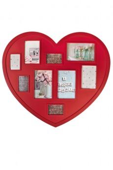 Рамка для 9-ти фото «Сердце»