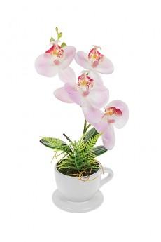 Композиция декоративная «Орхидея в кружке»