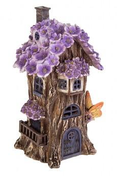 Фигурка садовая с фонарем «Фиалковый домик»