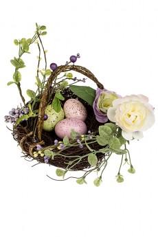 Композиция декоративная «Яйца в гнезде»