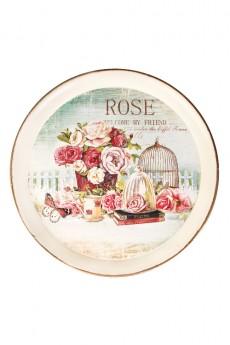 Поднос декоративный «Нежные розы»