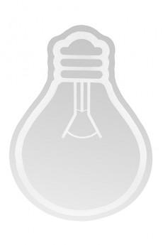 Зеркало настенное «Лампочка»
