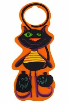 Украшение на дверь «Черный кот»