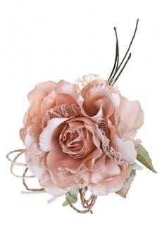 Цветок декоративный «Роза с кружевом»