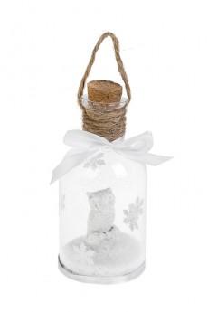 Украшение для интерьера светящееся «Бутылка - Сова в лесу»