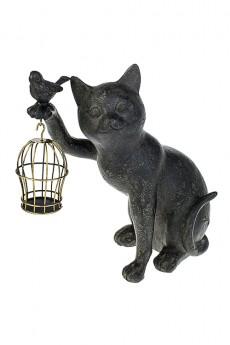 Фигурка «Котик с птичкой и клеткой»