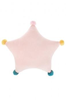 Подушка «Звезда с помпончиками»