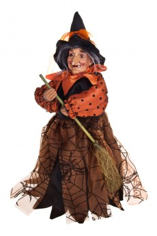 Кукла декоративная музык.-двиг. «Злобная ведьмочка»