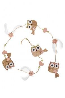 Украшение декоративное «Совушки с сердцами»