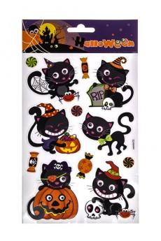 Набор наклеек «Котики и тыквы»