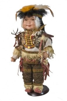 Фарфоровая кукла «Индеец»