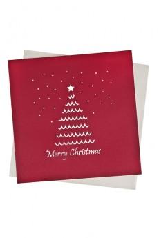 Открытка подарочная с объемными картинками новогодняя «Пушистая елочка»