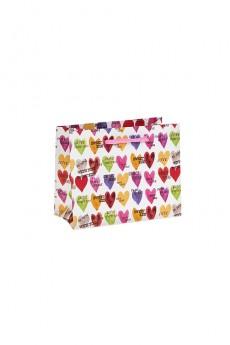 Пакет подарочный «Яркие сердечки»