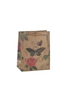 Пакет подарочный «Бабочка и роза»