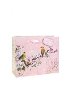 Пакет подарочный «Птички на ветке»