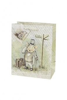 Пакет подарочный «Хрюша-аристократ»