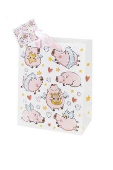 Пакет подарочный «Парящие свинки»