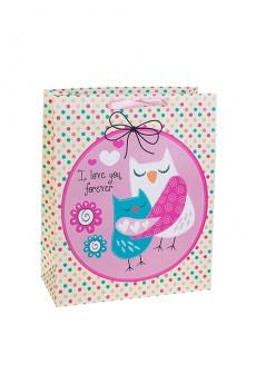 Пакет подарочный «Влюбленные совушки»