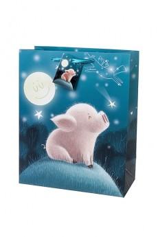 Пакет подарочный «Мечтающая свинка»