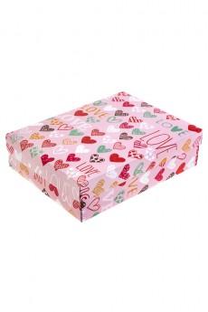 Коробка подарочная «Цветные сердца»