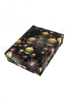 Коробка подарочная новогодняя «Merry and bright»