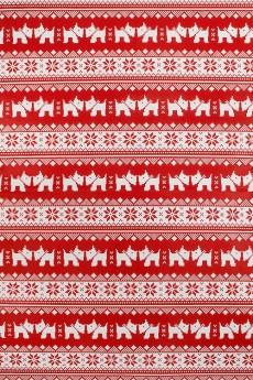 Бумага упаковочная новогодняя «Норвежский песик»