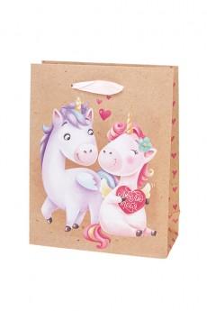 Пакет подарочный «Единорожки и любовь»