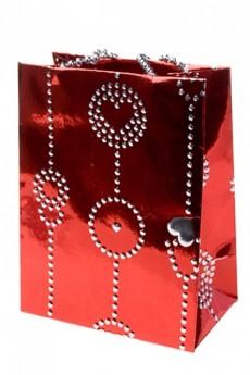 Пакет подарочный «Гирлянда из сердец»