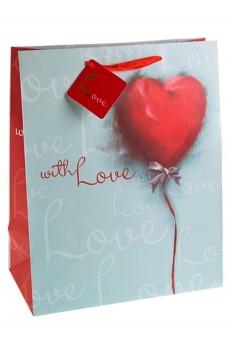 Пакет подарочный «Акварельное сердце»