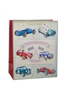 Пакет подарочный «Раритетные машины»