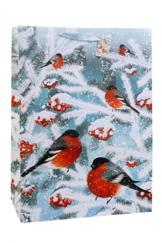 Пакет подарочный новогодний «Волшебные снегири»
