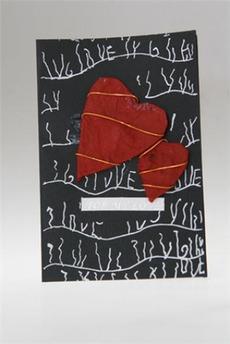 Открытка подарочная «Два сердца»