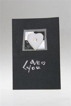 Открытка подарочная «Черное серебро»