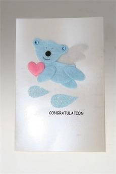 Открытка «Голубой мишка»
