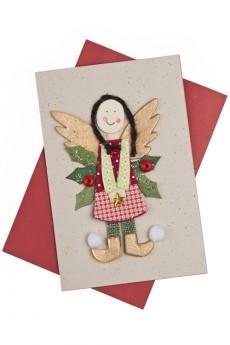 Открытка подарочная «Рождественский ангел»