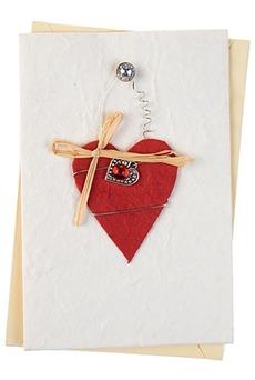 Открытка подарочная «Подвесное сердце»