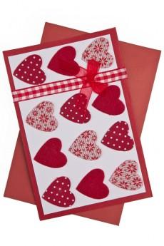 Открытка подарочная «Тысячи сердец»