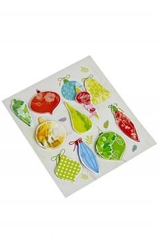 Набор наклеек новогодних «Елочные игрушки»