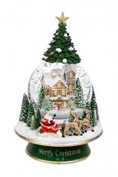 Шар со снегом «Дед Мороз на санях»