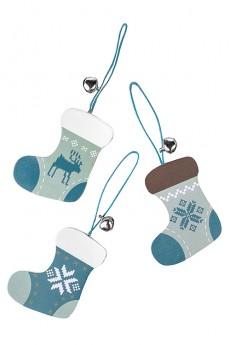 Набор украшений новогодних «Носки с норвежским узором»