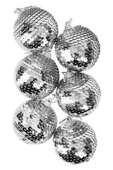 Набор шаров елочных «Серебряная россыпь»