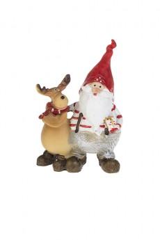 Фигурка новогодняя «Дед Мороз с лосиком»