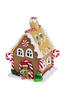 Украшение новогоднее светящееся «Пряничный праздничный домик»