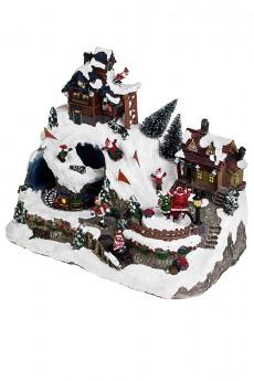 Украшение новогоднее светящееся, музыкальное и двигающееся «Альпийская сказка»
