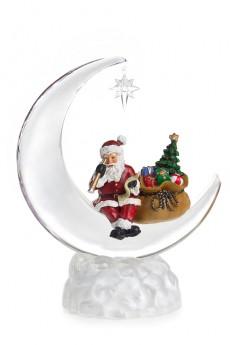 Украшение новогоднее светящееся «Дед Мороз на месяце»