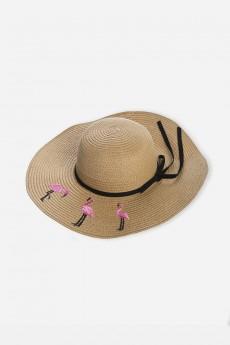 Шляпа летняя «Фламингос»
